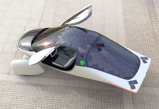Solar-powered Aptera electric car