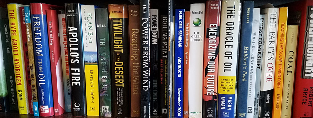 My library shelf of energy books