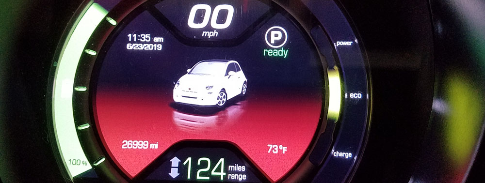 Fiat 500e instrument display